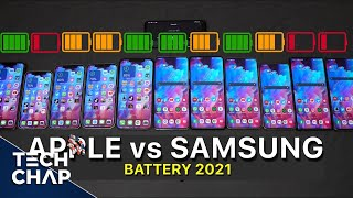 Galaxy S21 vs S21+ vs S21 Ultra vs iPhone 12 vs Pro vs Pro Max - BATTERY Test! | The Tech Chap