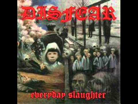 DISFEAR - Everday Slaughter (FULL ALBUM): 01. With Each Dawn I Die 02. Anthem Of Agony 03. Crimescene- Worldwide 04. A Race For Power 05. Spectre of Genocide 06. Everyday Slaughter 07. Subsistance 08. Totalitarian Control 09. Frustration 10. Aftermath 11. 101 Overkill 12. Captured By Life 14. The Defenceless (Bonus)13. In Fear...