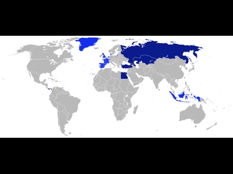 Countries in Multiple Continents