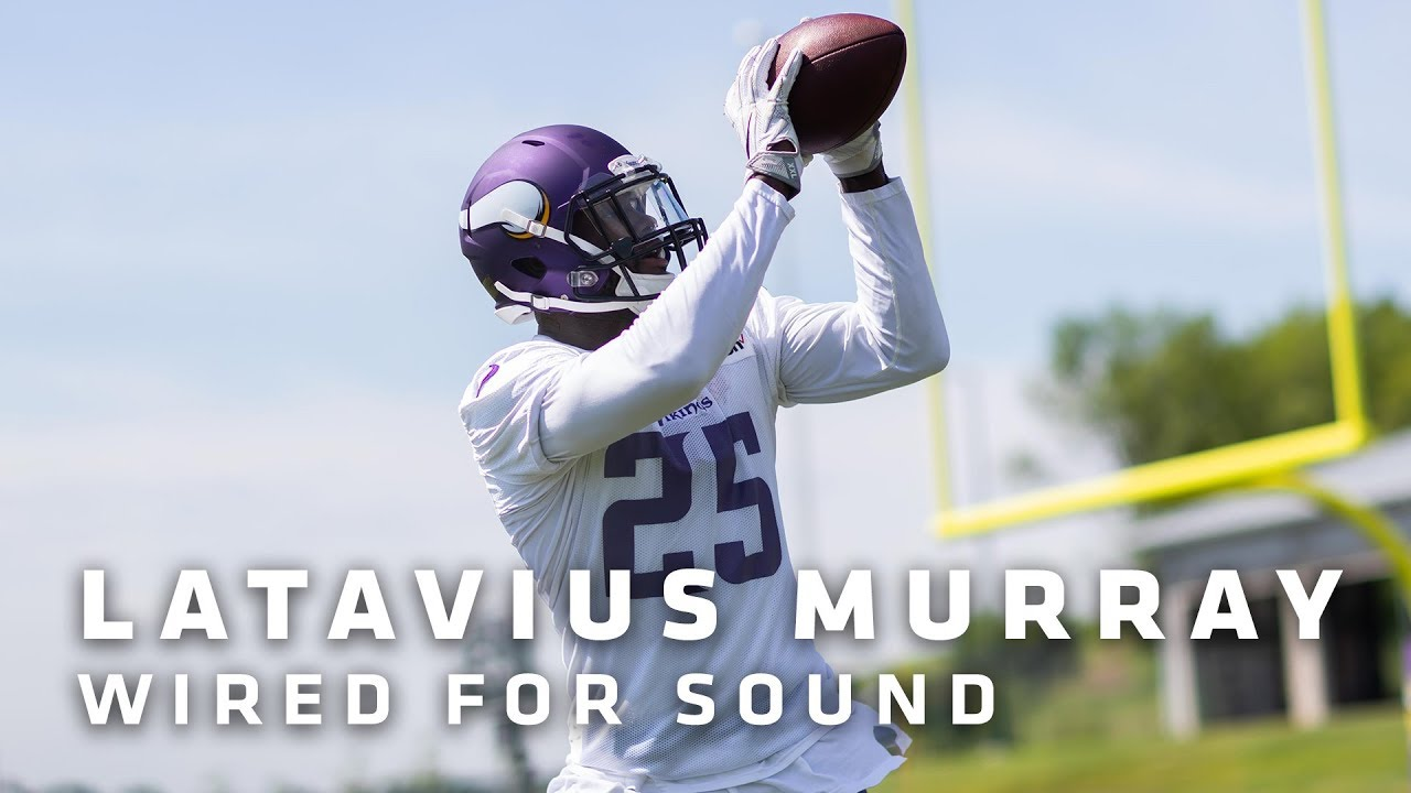 Latavius Murray Wired For Sound During Vikings Practice Minnesota