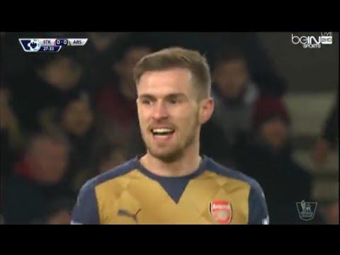 Arsenal vs Stock city 1-0 all goals HD 2016 Premier league