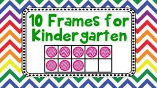10 Frames for Kindergarten Kids Adding Counting Using Ten Frames