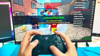 PLAYING MURDER MYSTERY 2 ON XBOX! (Roblox)