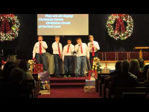 "New Bethel's Christmas Program... Boys singing ""Christmas Carol of LOVE!"""