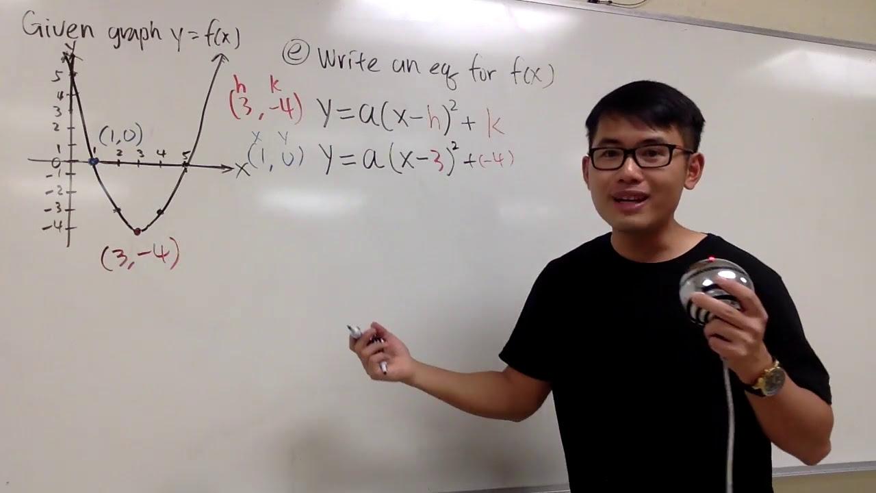 Q28e write an equation of a parabola in vertex form and standard q28e write an equation of a parabola in vertex form and standard form falaconquin