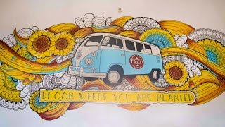 Hippie Mural | Elsa Rhae | Kansas City Taco Company