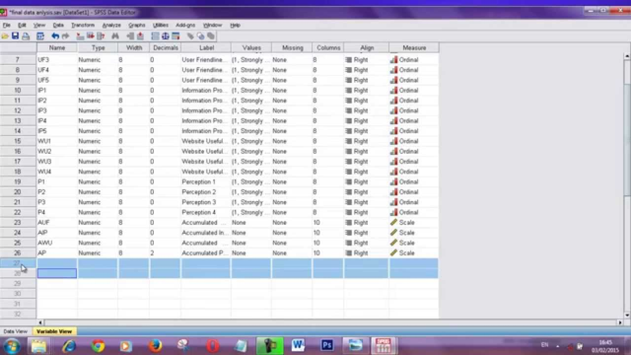 SPSS For Beginners SPSS Tutorial How To Enter And Coding