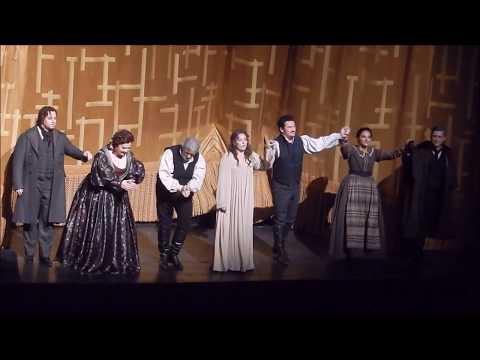 Curtain Call in Luisa Miller. Piotr Beczała,Plácido Domingo,Bertrand de Billy,Sonya Yoncheva 2.4.18