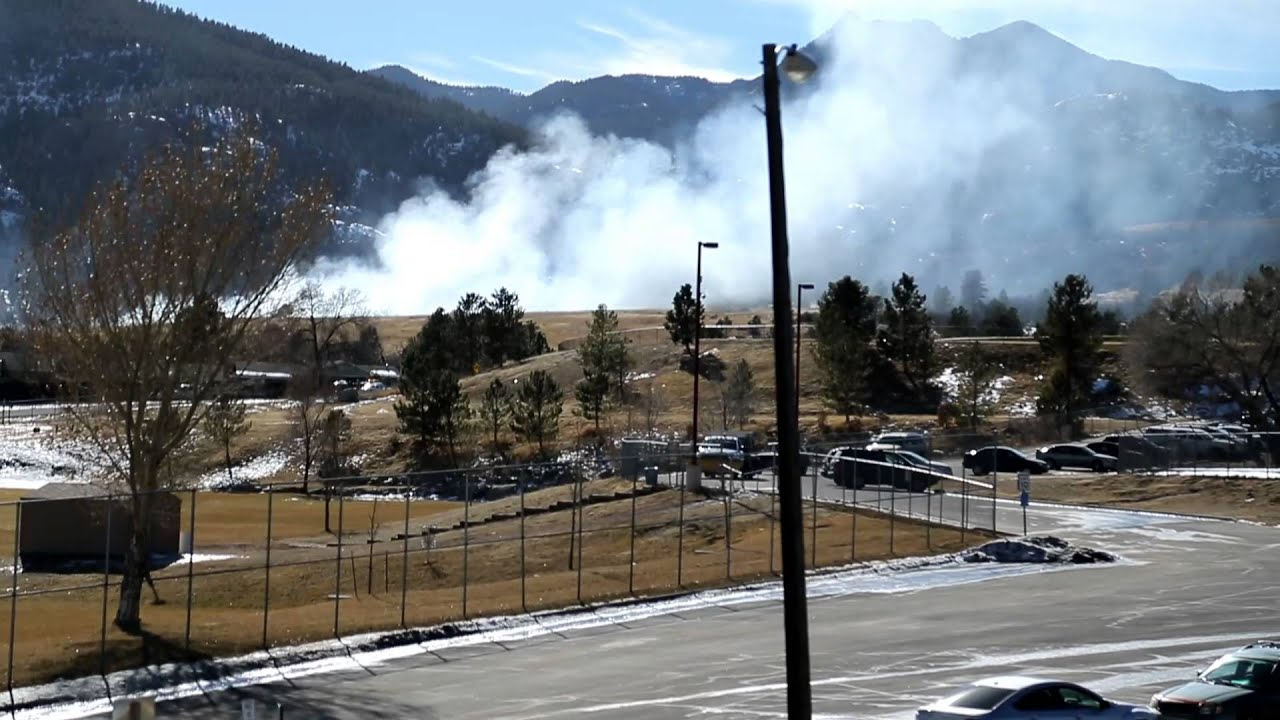 Fire at Cheyenne Mountain High School - YouTube