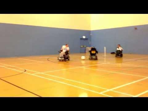 Everton wheelchair football free kicks