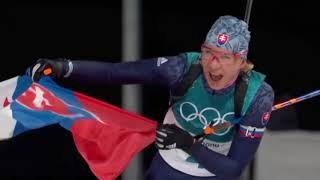 Anastasia Kuzminova -Biatlon  s hromadným štartom na 12,5 km PJONGČANG, ZOH 2018