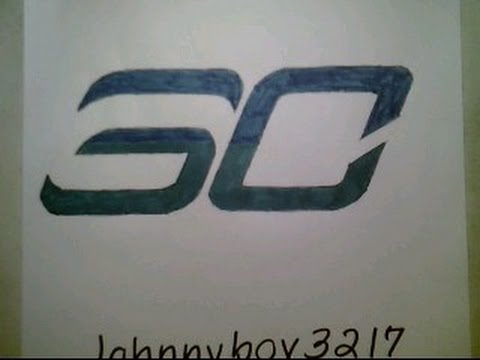 How To Draw Stephen Curry Logo Easy Sign Emblem Nba Basketball Under