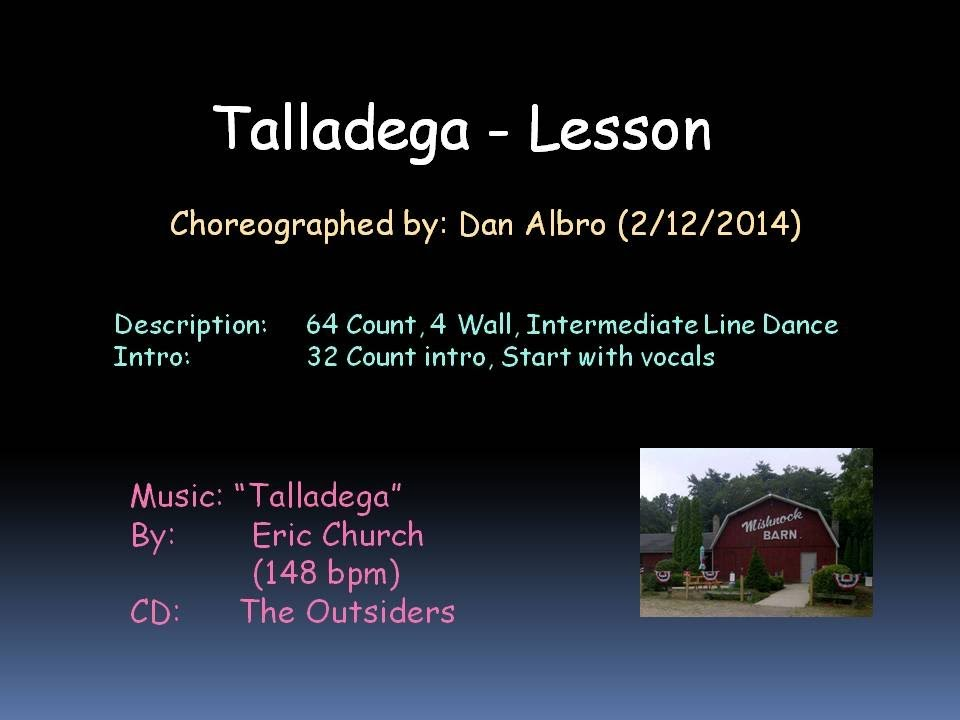 Talladega Line Dance Lesson Youtube