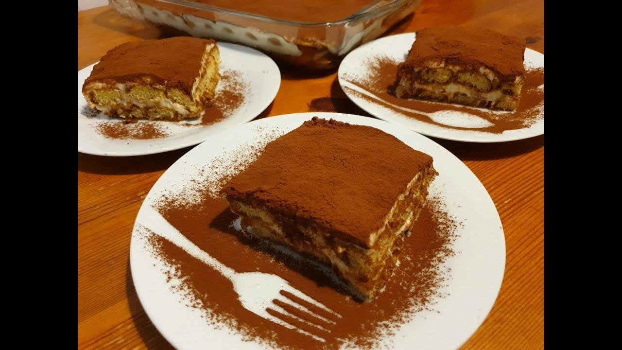 TIRAMISU-reteta Super fara ou crud -How to make Tiramisu Recipe Homemade-
