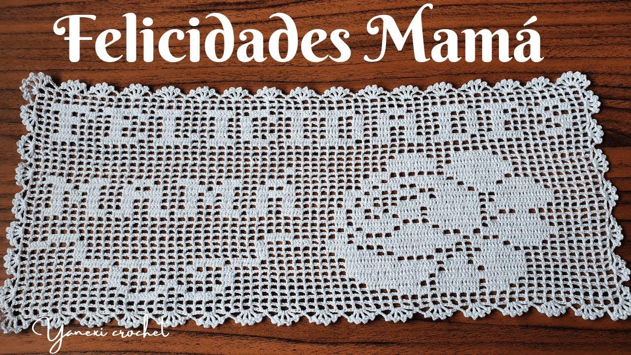 🌺 Como tejer Centro de Mesa en Crochet Filet Paso a Paso | Felicidades Mamá