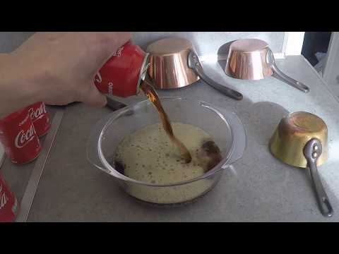 How to clean copper pots with COCA COLA