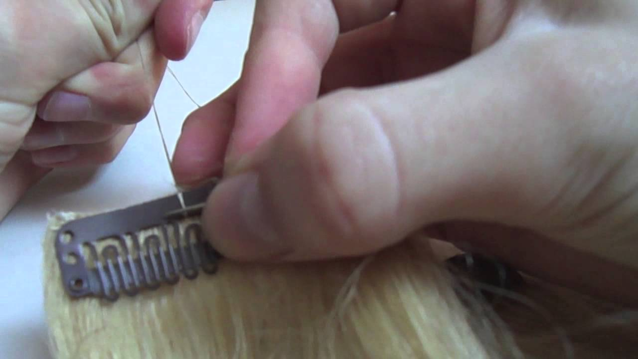 How to sew clips on hair extensions youtube how to sew clips on hair extensions pmusecretfo Images