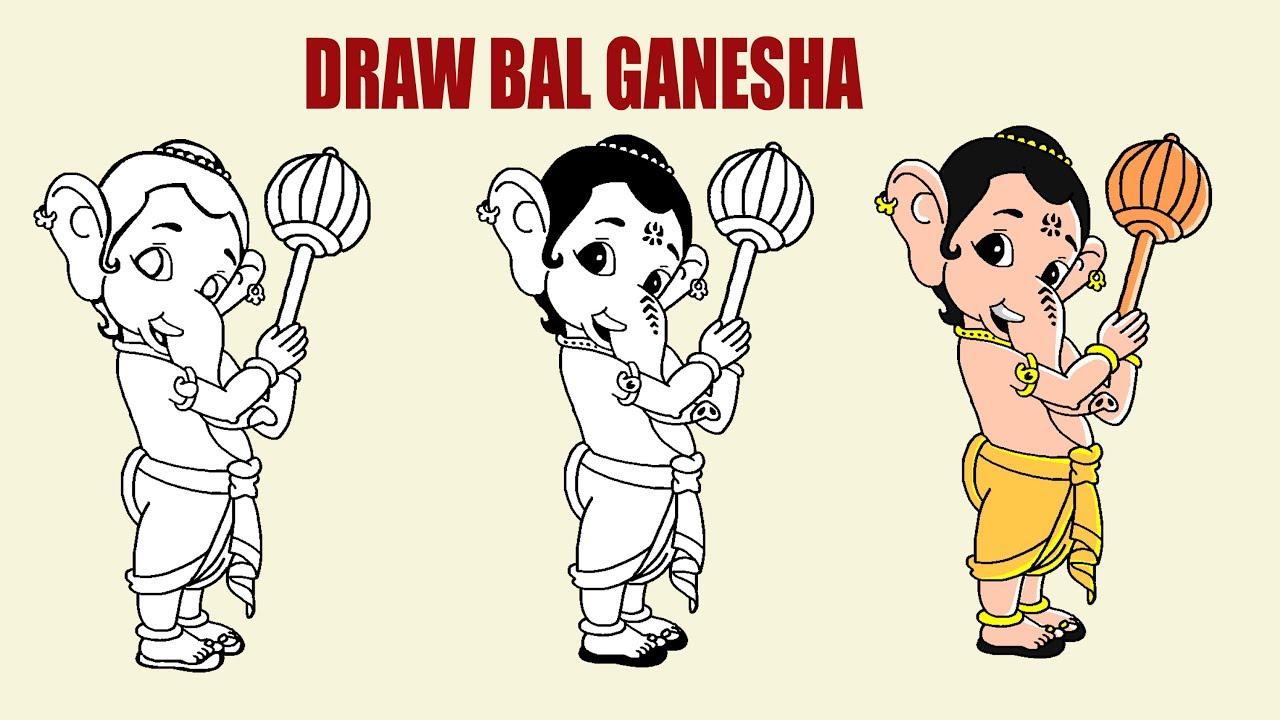 Draw Bal Ganesha For Kids Youtube