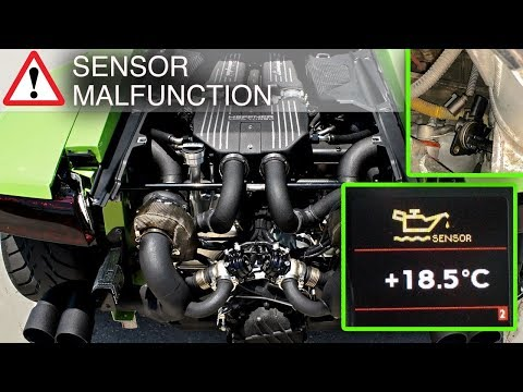 Lamborghini Gallardo LP560  Oil Temperature Sensor Malfunction FIX – FULL REPLACEMENT