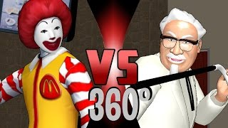 Ronald McDonald VS Colonel Sanders (KFC) | 360° Video - DEATH BATTLE