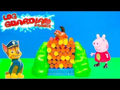 GUARDIAN BEAVERS Nickelodeon Paw Patrol Challenges Peppa Pig in Guardian Beavers  Game Toys Video