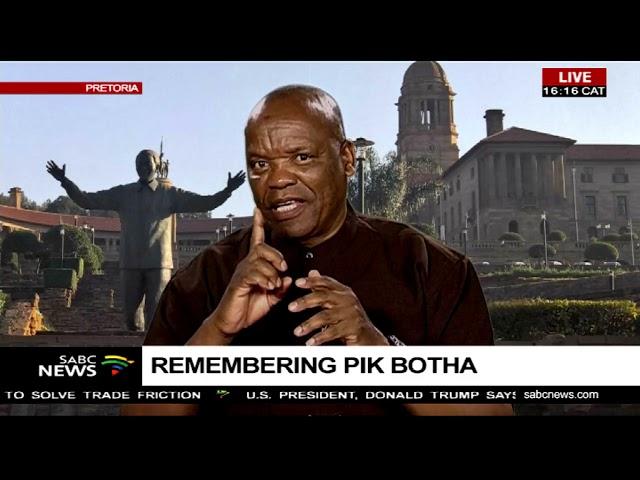Remembering Pik Botha: Lesiba Teffo