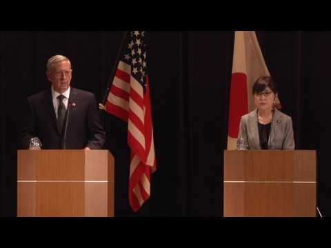 Mattis, Japanese Counterpart Conduct News Conference