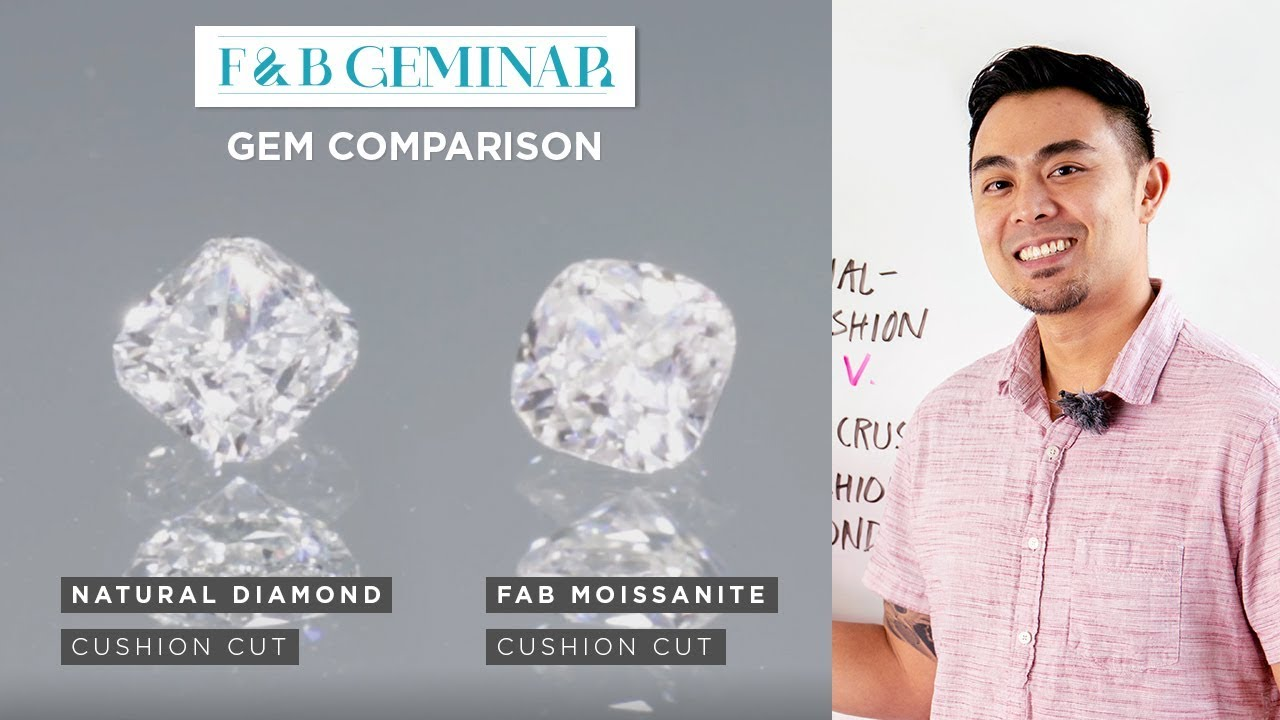 FAB First Cushion Moissanite v  Natural Cushion Diamond