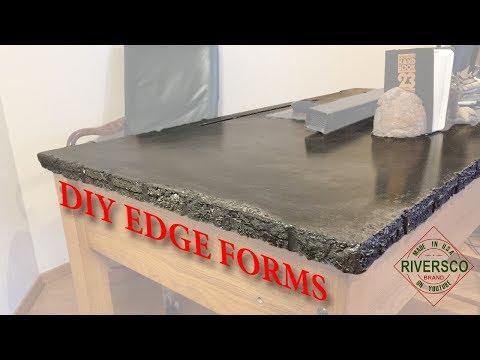 diy-concrete-countertop-desk,-custom-edge-effects