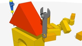 Vids For Kids In 3d (hd) - 12_funny Tools Play Play With Building Blocks - Aapv