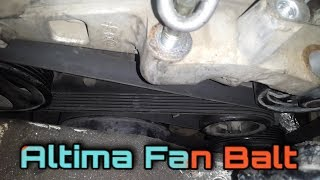 nissan altima 2005 engine fan balt replacement | nissan altima idler pulley replacement