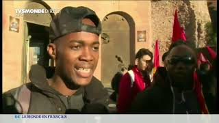 Manifestation anti-raciste à Rome en Italie