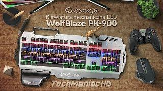 Gamingowa Mechaniczna Klawiatura LED - recenzja 7pin PK-900 WolfBlaze NKRO