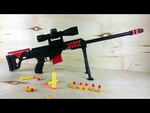 Игрушечная снайперская винтовка - Не один кот в видео не пострадал.... наверное