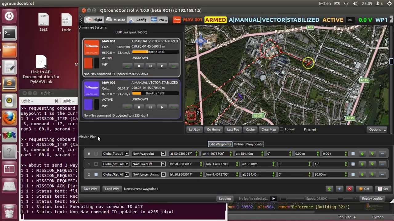 MAVLink multiple UAVs SITL test
