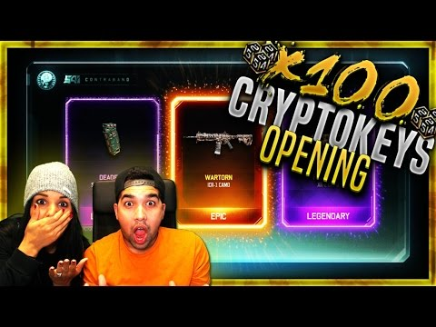 GIRLFRIEND OPENS EPIC & LEGENDARY Supply Drop! Black Ops 3 x110 Cryptokeys RARE Supply Drop Opening