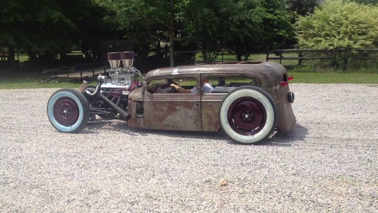 1933 Chevy Tudor Sedan Rat Rod 1st Run part 2 - YouTube