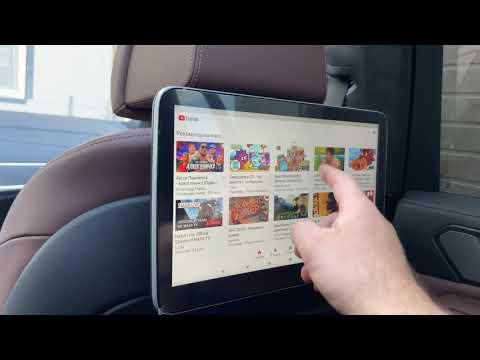 BMW X7. Мониторы для задних пассажиров и Андроид на центральном мониторе