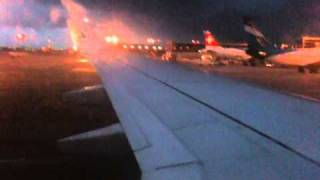 Luxair Luxembourg Airline Boeing 737-800W taxiing at Luxembourg Findel airport ...