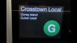 MTA NYC Subway: On Board Coney Island Bound R160 (G) Train From Court Sq to Coney Is Stillwell Ave