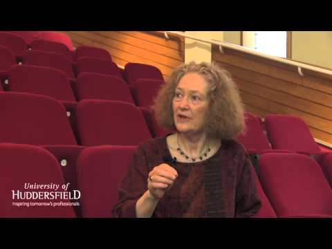 Dame Emma 2015 Kirkby talks to Professor John Bryan at the University of Huddersfield