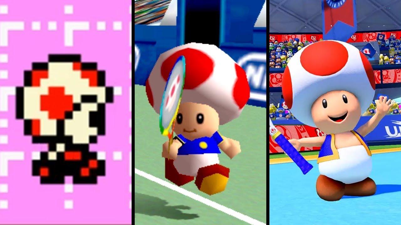 Evolution of Toad in Mario Tennis (2000-2019)