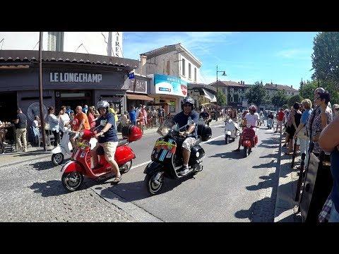 Tour de l'Isle sur Sorgue en Vespa