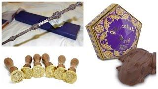 Обзор и распаковка печати, шоколадной лягушки и волшебной палочки из Гарри Поттера !!!!!
