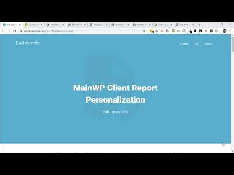 MainWP Client Report