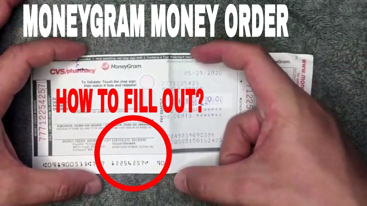 ✅ How To Fill Out Moneygram Money Order 🔴