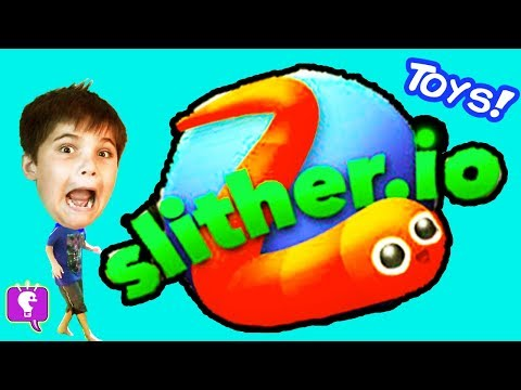 We Play Slither.io and Open Toys! Video Game Play by HobbyKidsTV