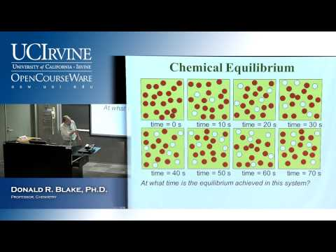 General Chemistry 1B. Lecture 14. Chemical Equilibrium, Part I