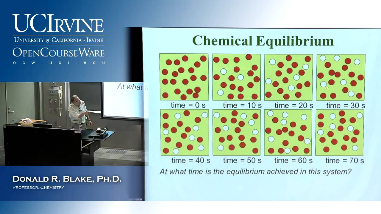 General Chemistry 1B  Lecture 14  Chemical Equilibrium, Part I