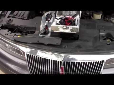 96 Lincoln Mark 8 headlights - YouTube